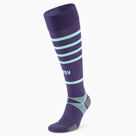 Chaussettes de football à rayures horizontales PSV Eindhoven Replica Homme 21/22, Astral Aura-Green Glimmer, small