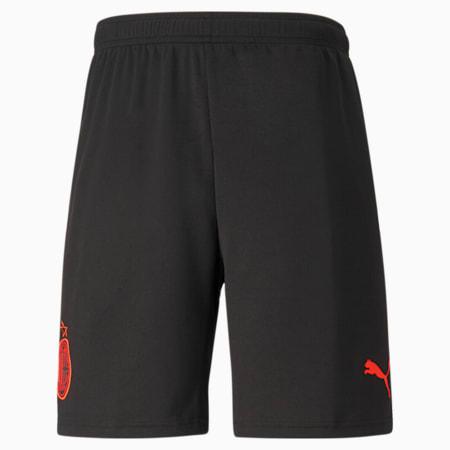 Shorts da calcio AC Milan Third Replica da uomo, Puma Black-Red Blast, small