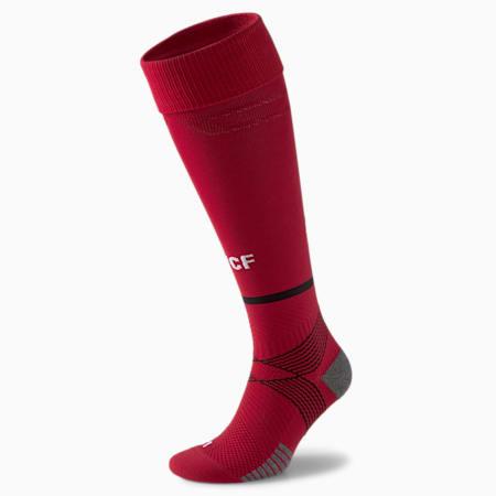 Valencia CF Replica Men's Band Football Socks 21/22, Rio Red-Puma Black, small
