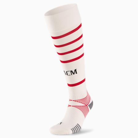 AC Milan Replica Hooped Men's Football Socks, Afterglow-Tango Red, small
