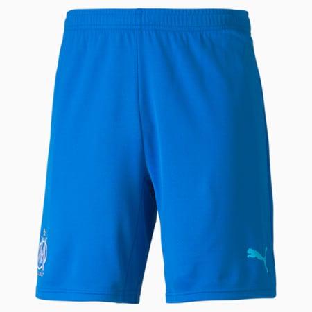 OM Third Replica Men's Football Shorts 21/22, Electric Blue Lemonade-Blue Atoll, small-GBR