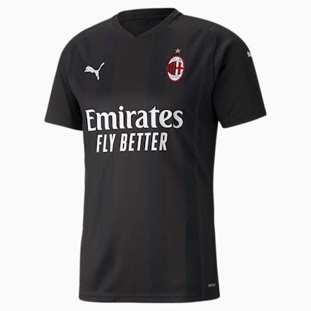 AC Milan Replica Men's Goalkeeper Jersey, Puma Black-Puma White, small-GBR