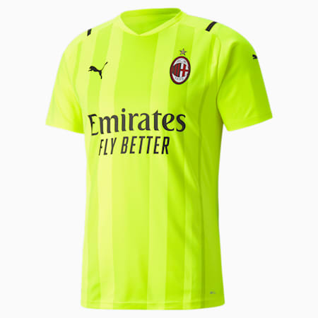 Camiseta de portero para hombre Replica del AC Milan, Safety Yellow-Nrgy Yellow, small