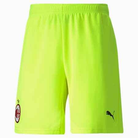 AC Milan Replica Men's Football Goalkeeper Shorts, Safety Yellow, small