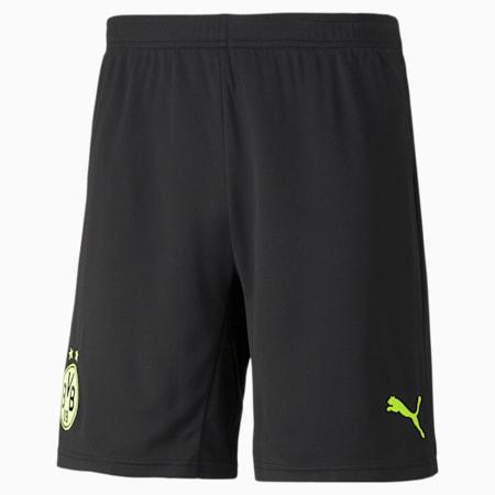 BVB Cup Replica Shorts für Herren, Puma Black-Safety Yellow, small