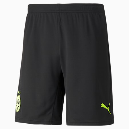 BVB Cup Men's Replica Shorts, Puma Black-Safety Yellow, small-IND
