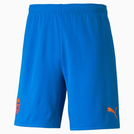 Valencia CF Replica derde voetbalshort voor heren, Electric Blue Lemonade-Vibrant Orange, small