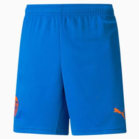 Valencia CF Replica derde voetbalshort voor jongeren, Electric Blue Lemonade-Vibrant Orange, small