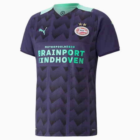 Męska replika wyjazdowej koszulki PSV, Astral Aura-Green Glimmer, small
