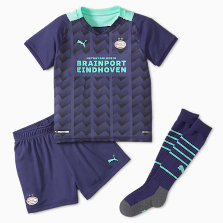 PSV Away Youth Football Mini-Kit, Astral Aura-Green Glimmer, small