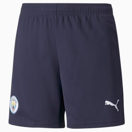 Man City Replica derde voetbalshort voor jongeren 21/22, Peacoat-Puma White, small