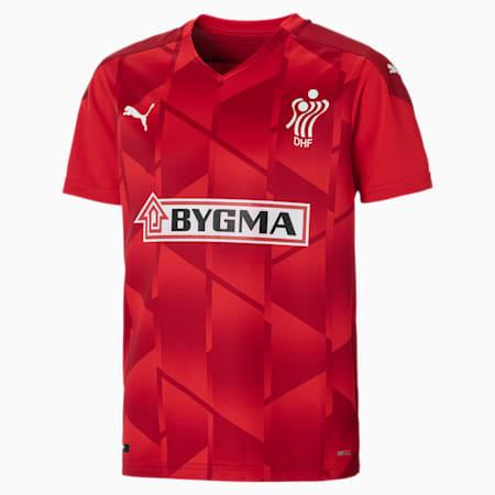 Camiseta de la Federación Danesa de Balonmano para jóvenes, Puma Red-Chili Pepper, small