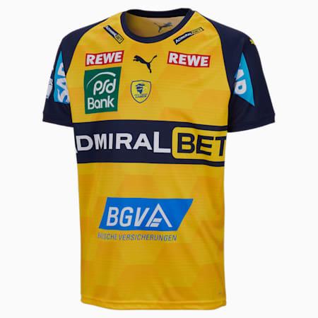 Camiseta de la 1.ª equipación del Rhein-Neckar Löwen para hombre, Cyber Yellow-Peacoat, small