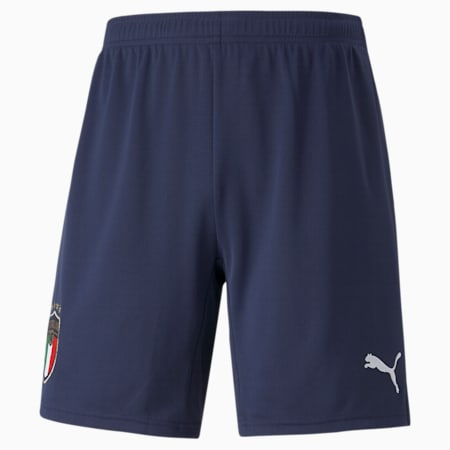 Reproduction du short FIGC Away, homme, Bleu caban-blanc PUMA, petit
