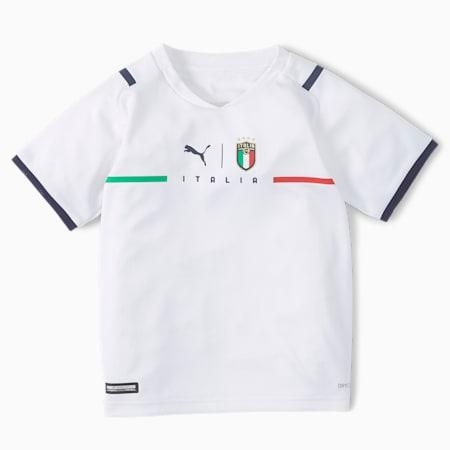 Conjunto mini juvenil de la 2.ª equipación de la FIGC, Puma White-Peacoat, small