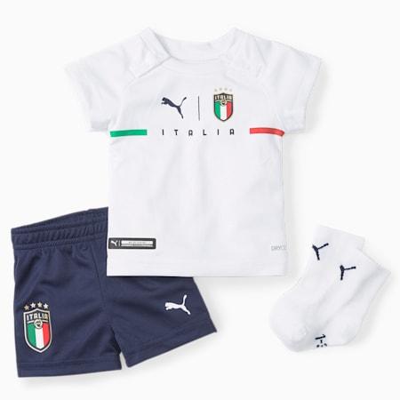 Niemowlęcy zestaw wyjazdowy ze skarpetkami FIGC, Puma White-Peacoat, small