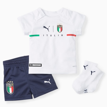 FIGC Away Babies' Kit with Socks, Puma White-Peacoat, small-GBR