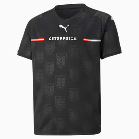 Austria Away Replica Youth Jersey, Puma Black, small-GBR