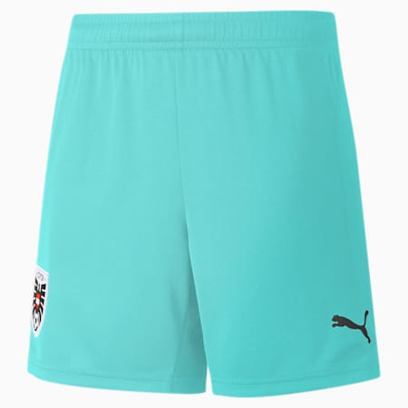 Austria Away Replica Youth Shorts, Blue Turquoise, small-GBR