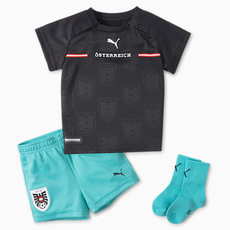 Austria Away Babies' Kit, Puma Black-Blue Turquoise, small-GBR