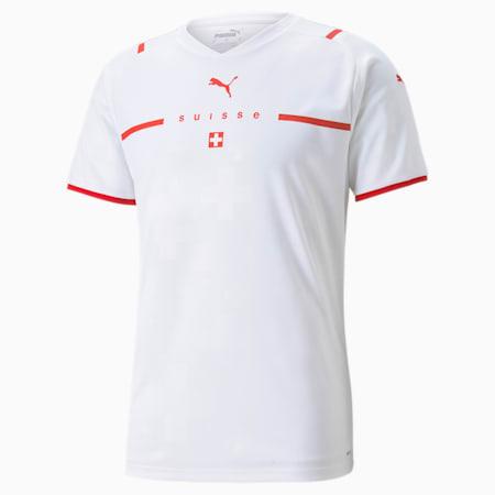 Męska replika koszulki wyjazdowej reprezentacji Szwajcarii, Puma White-Puma Red, small