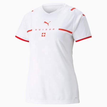 Damska replika koszulki wyjazdowej reprezentacji Szwajcarii, Puma White-Puma Red, small