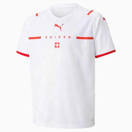 Camiseta juvenil réplica de la 2.ª equipación de Suiza, Puma White-Puma Red, small