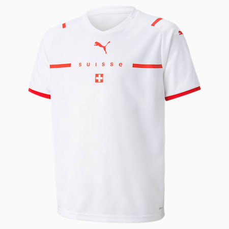 Switzerland Away Replica Youth Jersey, Puma White-Puma Red, small
