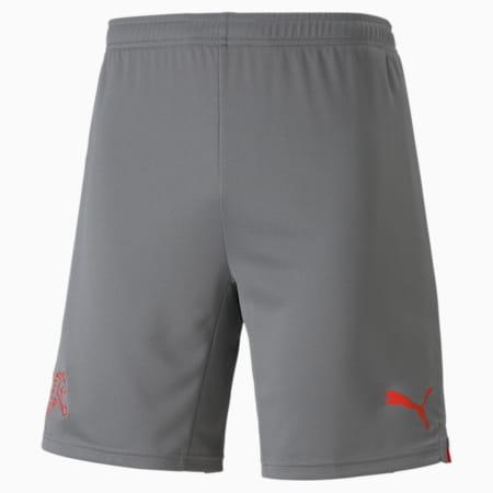 Shorts Svizzera Replica uomo, Smoked Pearl-Puma Red, small