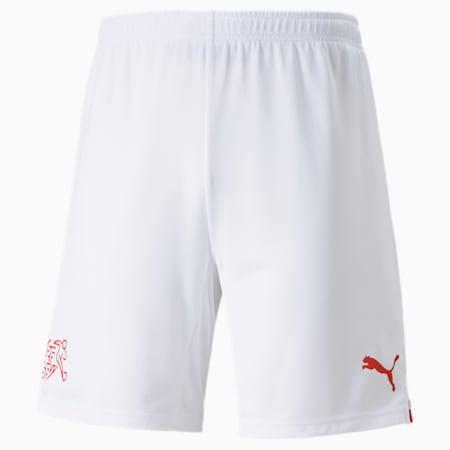Męska replika szortów reprezentacji Szwajcarii, Puma White-Puma Red, small