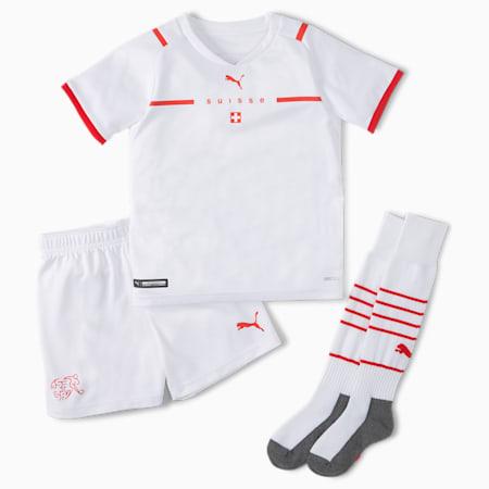 Switzerland Away Youth Mini Kit, Puma White-Puma Red, small-GBR
