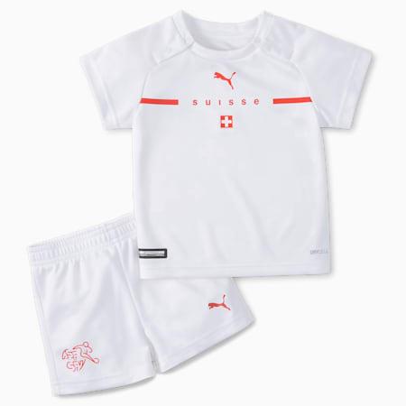 Switzerland Away Babies' Kit, Puma White-Puma Red, small