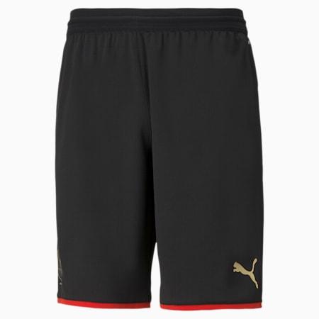 Stade Rennais 120th Anniversary Men's Football Shorts, Puma Black-Puma Red-Gold, small