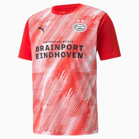 Męska koszulka PSV Prematch, High Risk Red-Puma White, small