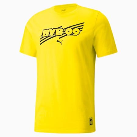 BVB ftblCore Men's T-Shirt, Cyber Yellow-Puma Black, small-IND