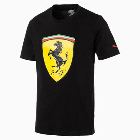 Ferrari Men's Big Shield T-Shirt, Cotton Black, small-SEA