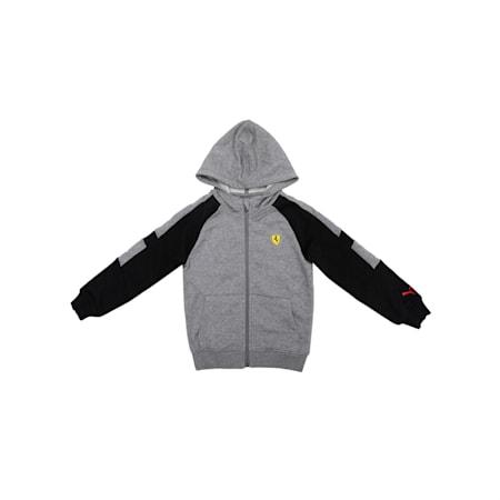 Ferrari Kids' Hooded Sweat Jacket, Medium Gray Heather, small-IND