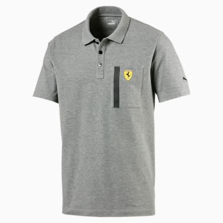 Ferrari Polo Shirt, Medium Gray Heather, small