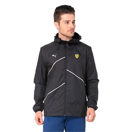 Scuderia Ferrari NightCat LW Men's Jacket, Puma Black, small-IND
