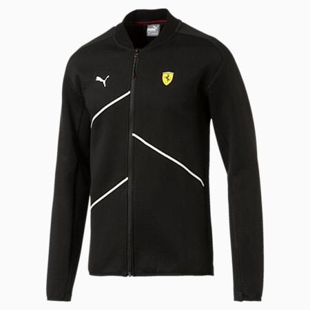 Ferrari Men's NightCat Sweat Jacket, Puma Black, small-IND