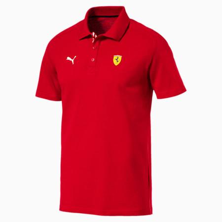 Ferrari Men's Polo Shirt, Rosso Corsa, small-SEA