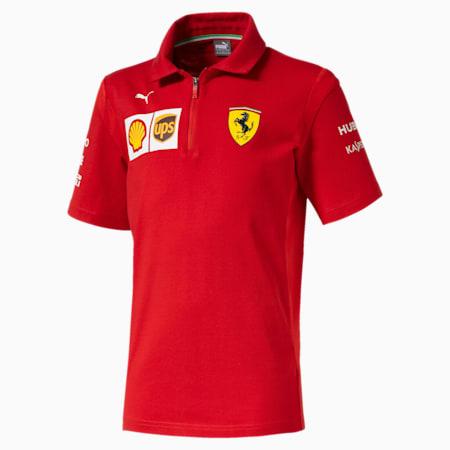 Polo Ferrari Team para rapaz, Rosso Corsa, small
