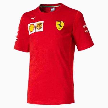 Scuderia Ferrari Boys' Team Tee JR, Rosso Corsa, small