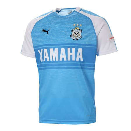 ジュビロ 19 ホーム 半袖 ゲームシャツ, AZURE BLUE Heather, small-JPN