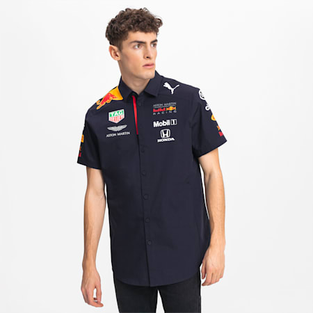 Chemise Red Bull Racing Team à manches courtes pour homme, NIGHT SKY, small