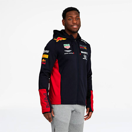 Red Bull Racing Team Men's Hooded Sweat Jacket, NIGHT SKY, small
