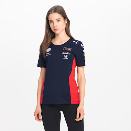T-Shirt Red Bull Racing Team pour femme, NIGHT SKY, small
