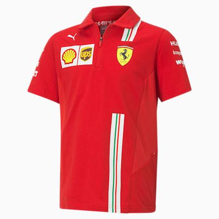 Scuderia Ferrari Team poloshirt voor jongeren, Rosso Corsa, small
