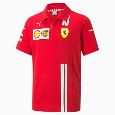 Scuderia Ferrari Team Youth Polo Shirt, Rosso Corsa, small