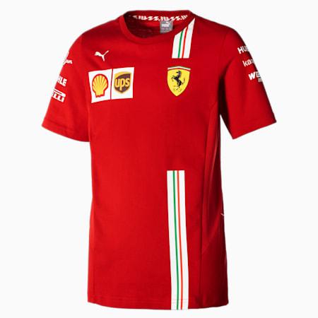 Scuderia Ferrari Team Youth Motorsport Tee, Rosso Corsa, small